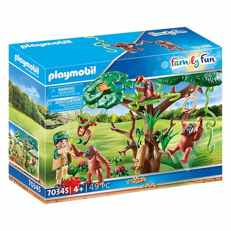 Playmobil Family Fun orangutanes con árbol