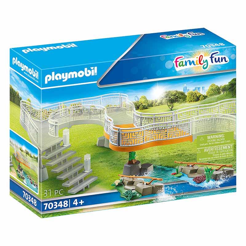 Playmobil Family Fun plataforma de observación zoo