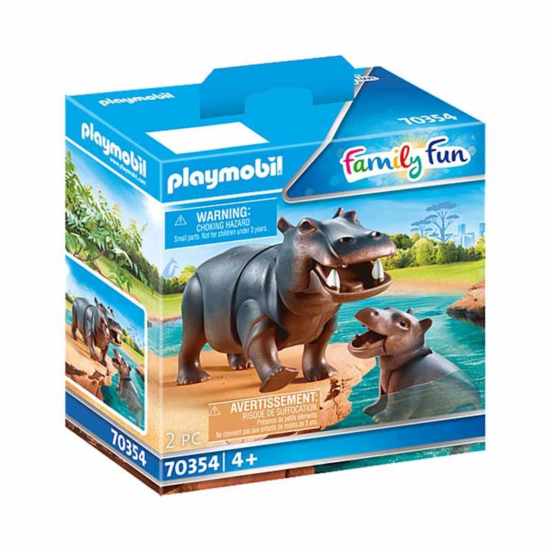Playmobil Family Fun hipopótamo con bebé
