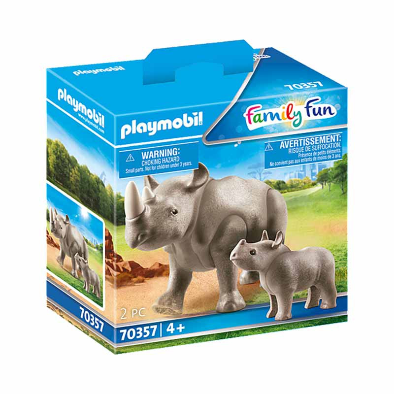 Playmobil Family Fun rinoceronte con bebé