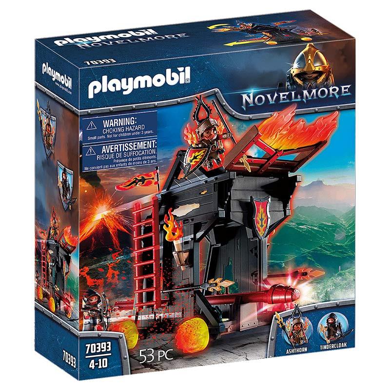 Playmobil Ariete de Fuego de los Bandidos de Burnh