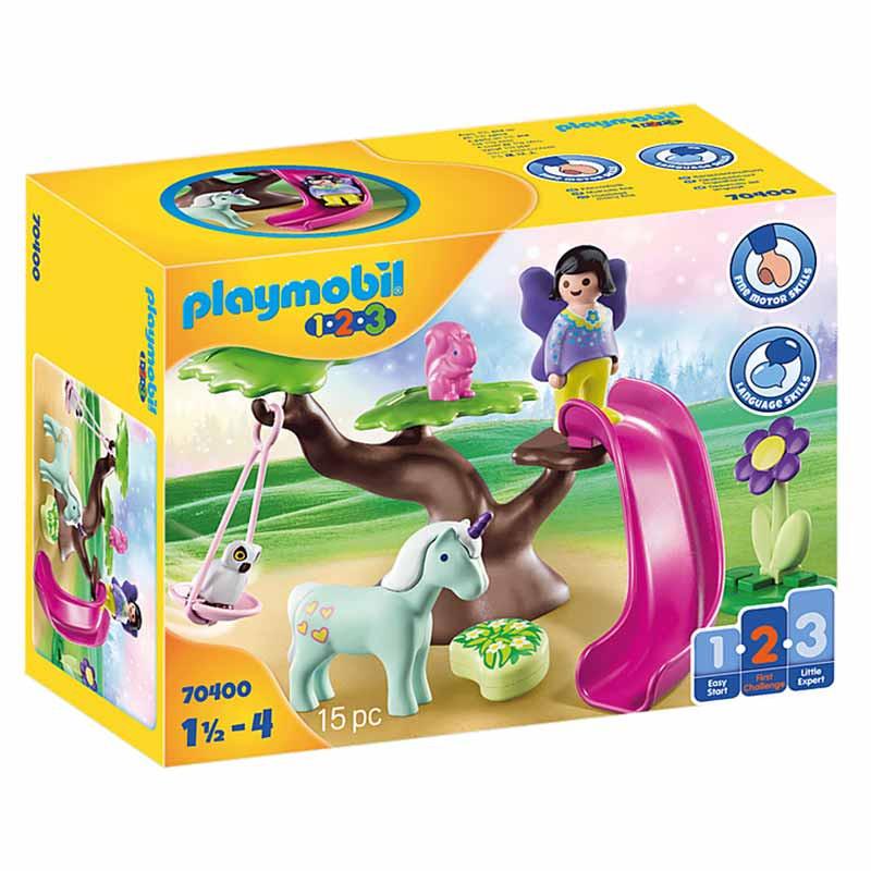 Playmobil 1.2.3 parque infantil hada
