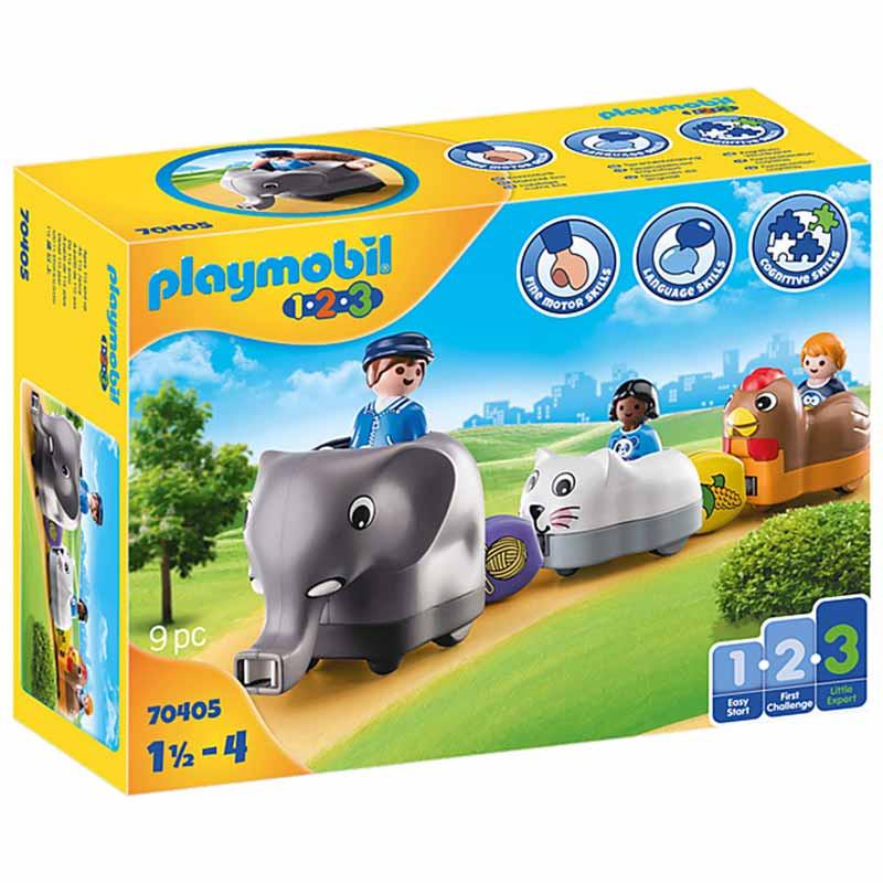 Playmobil 1.2.3 mi tren de animales