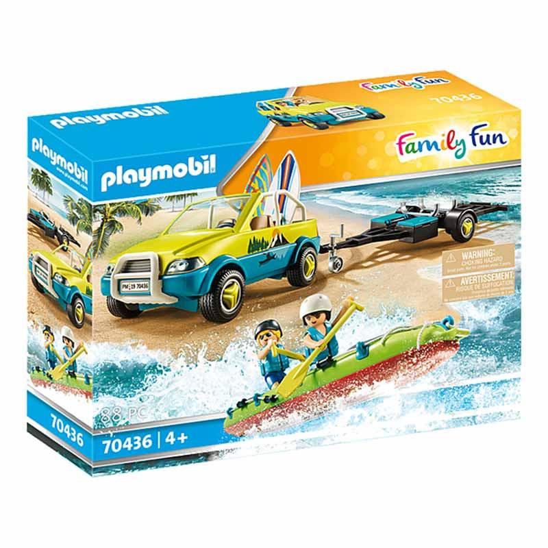 Playmobil Family Fun coche de playa con canoa