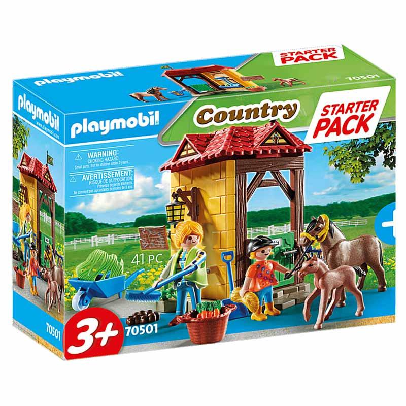 Playmobil starter pack granja de caballos