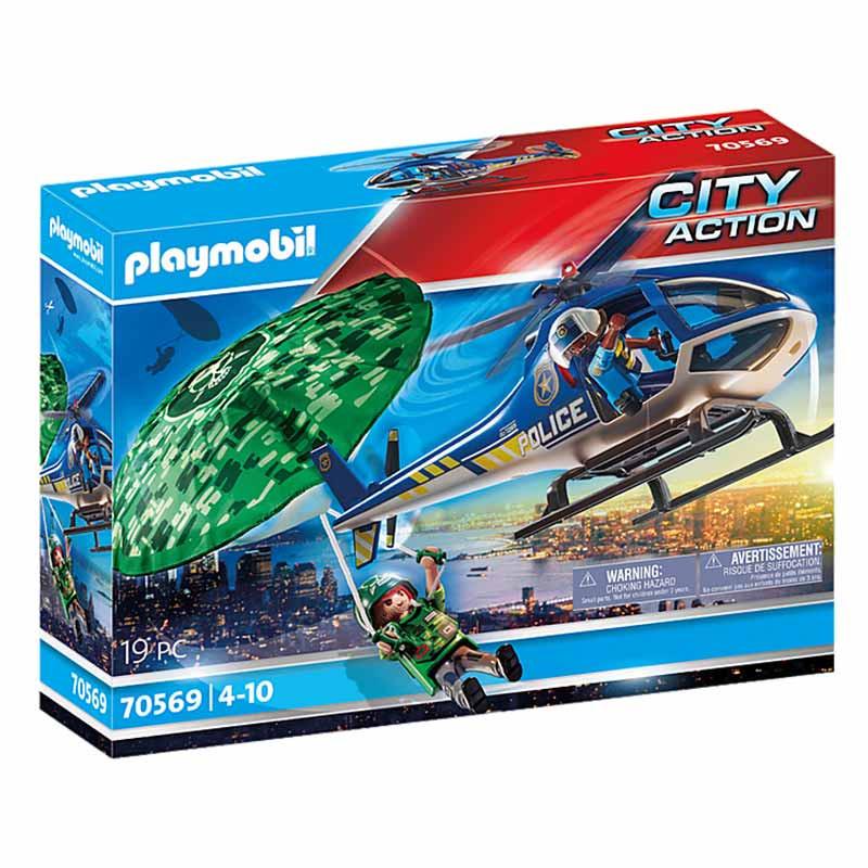 Playmobil City Action persecución en paracaídas