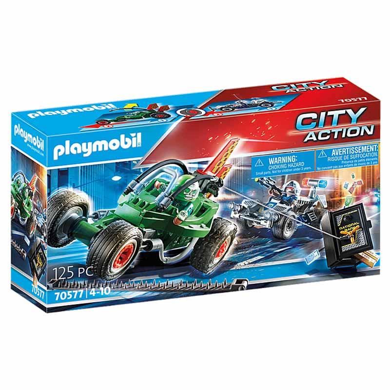 Playmobil City Action kart y ladrón de caja fuerte