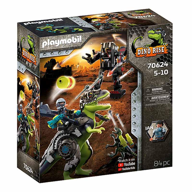Playmobil Dinos T-Rex: batalla de los gigantes