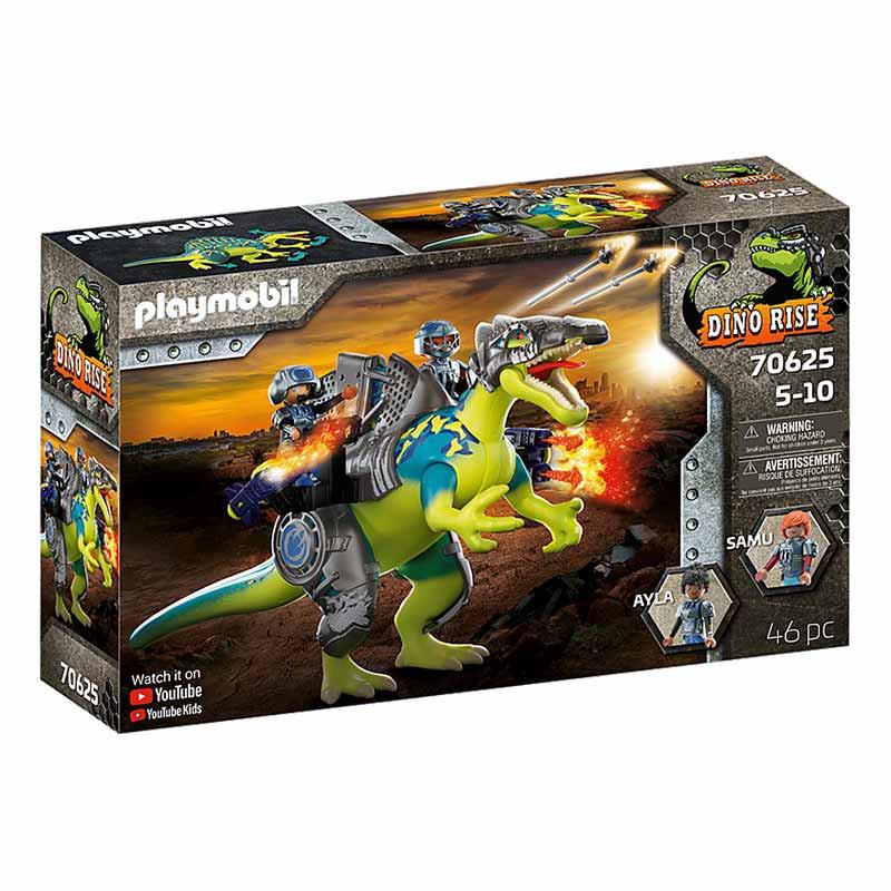 Playmobil Dinos Spinosaurus: doble poder defensa