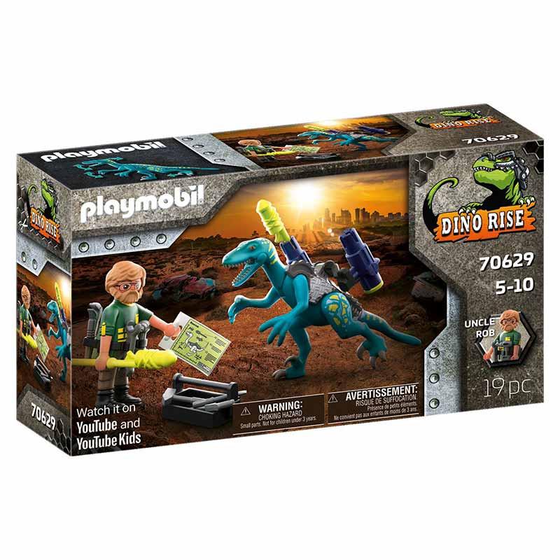 Playmobil Dinos Uncle Rob: armamento para batalla