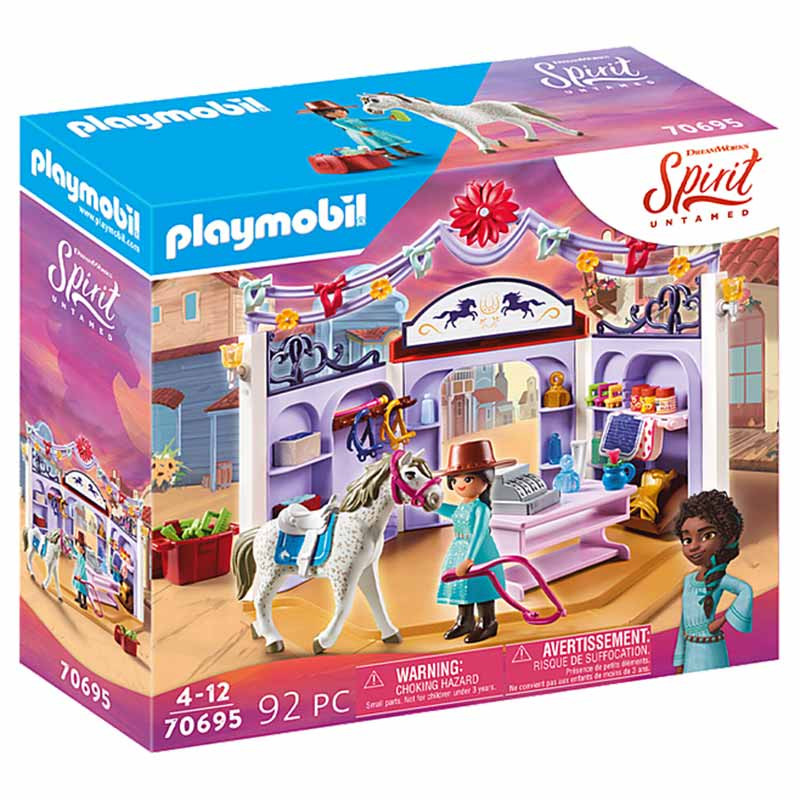 Playmobil Spirit Miradero tienda hípica