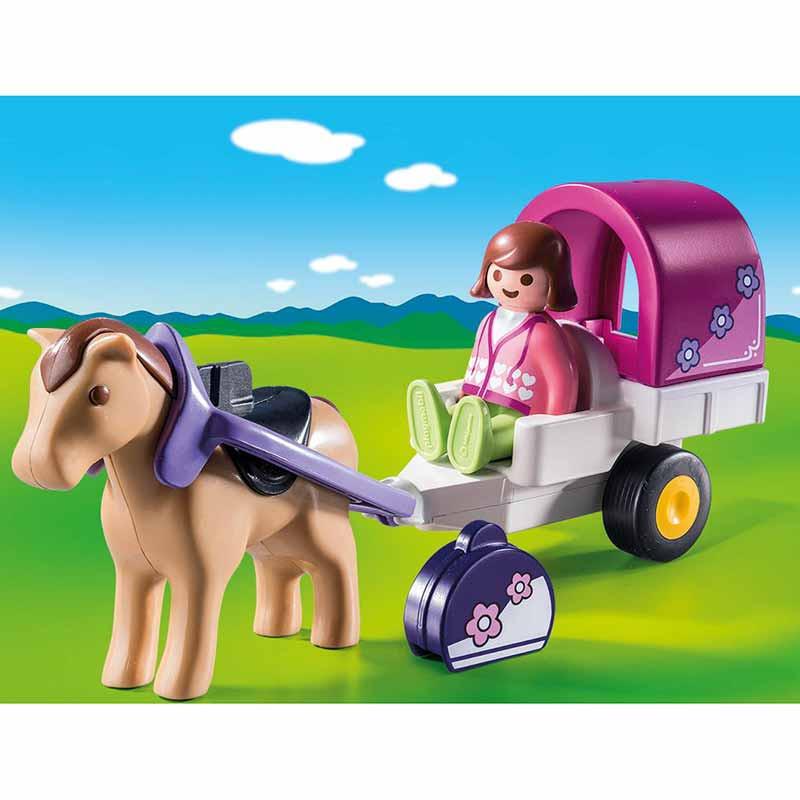 Playmobil 1.2.3 carruaje de caballos