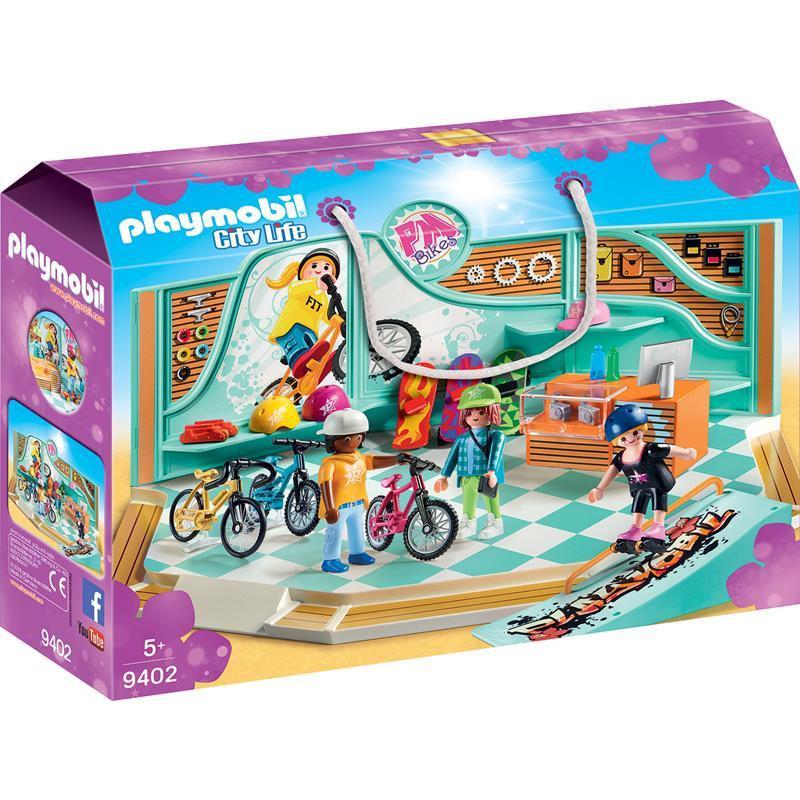 Playmobil City Life tienda de bicicletas y skate