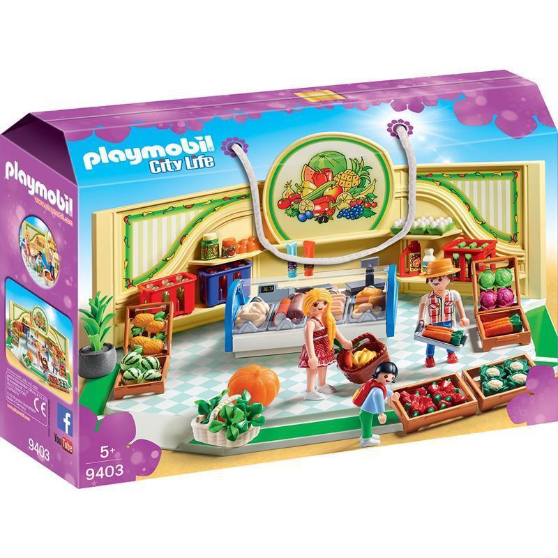 Playmobil City Life tienda de frutas y verduras
