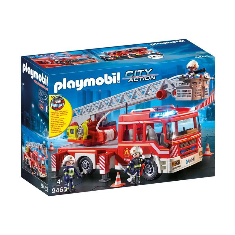 Playmobil City Action camión bomberos y escalera