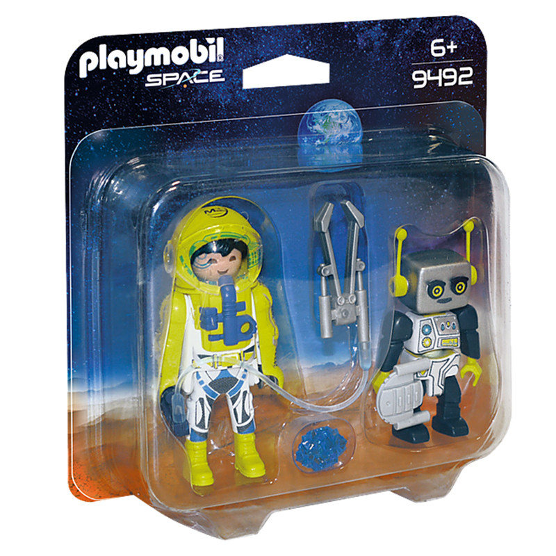 Playmobil duo pack astronauta y robot