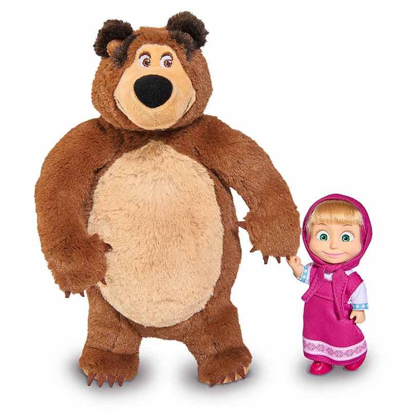 Muñeca Masha 12 cm con peluche oso