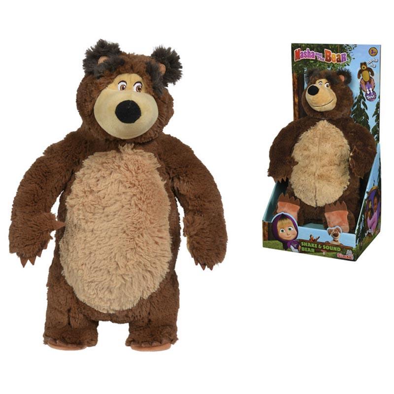 Masha y el oso peluche oso risas 43 cm