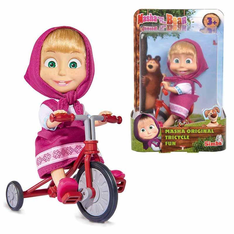 Masha con triciclo 12 cm