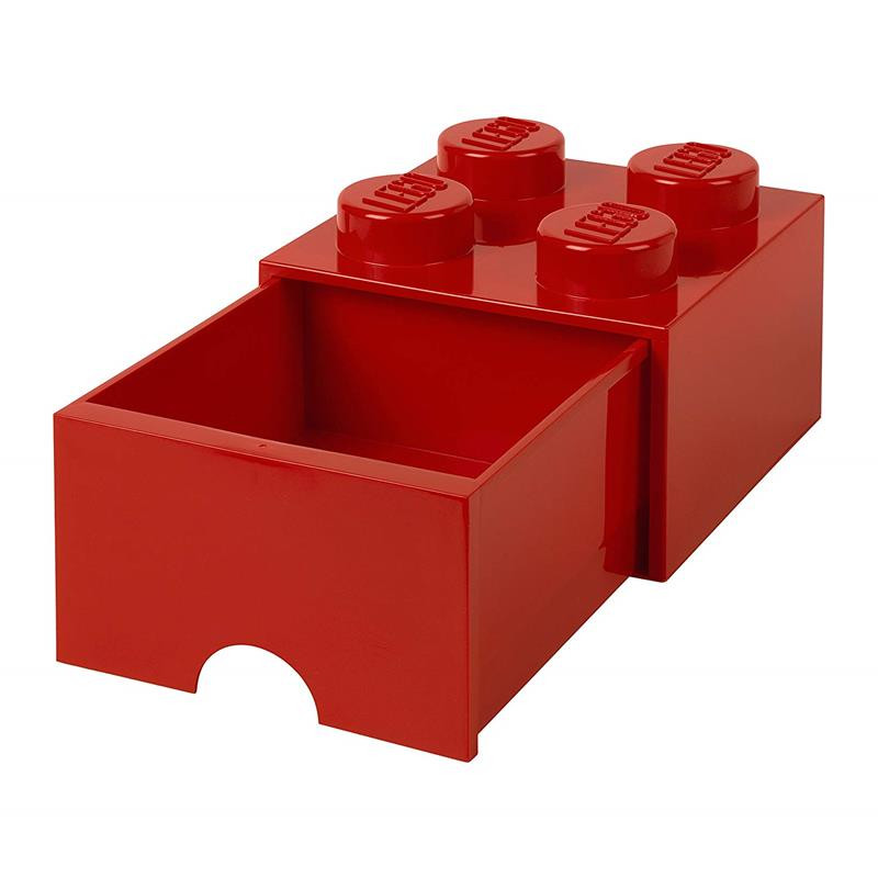 caja de almacenaje LEGO roja