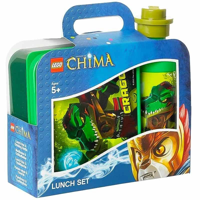 Set fiambrera y botella Lego Chima verde
