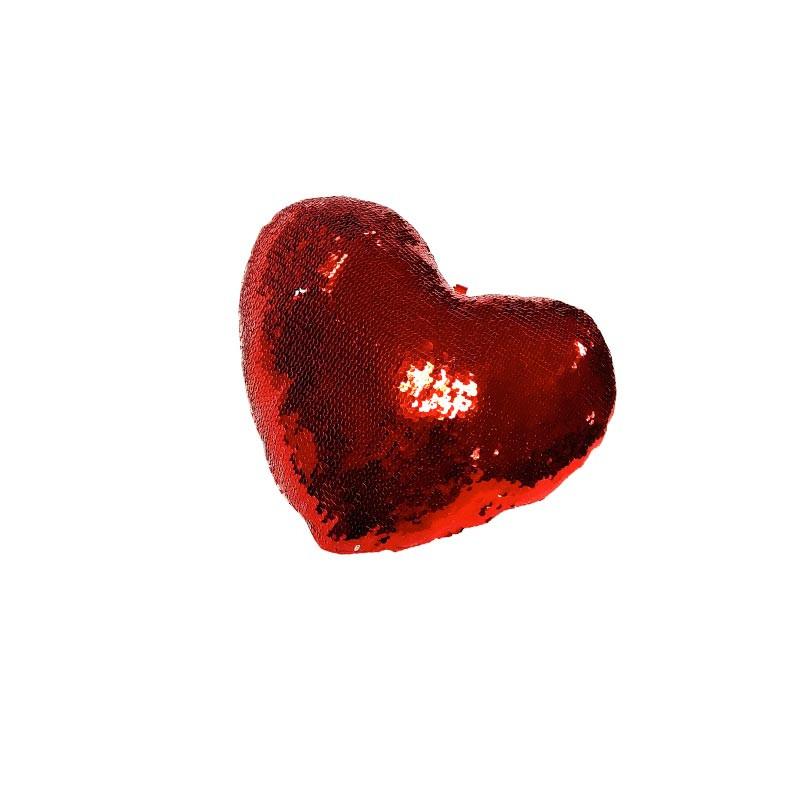 Cojín corazón de lentejuelas