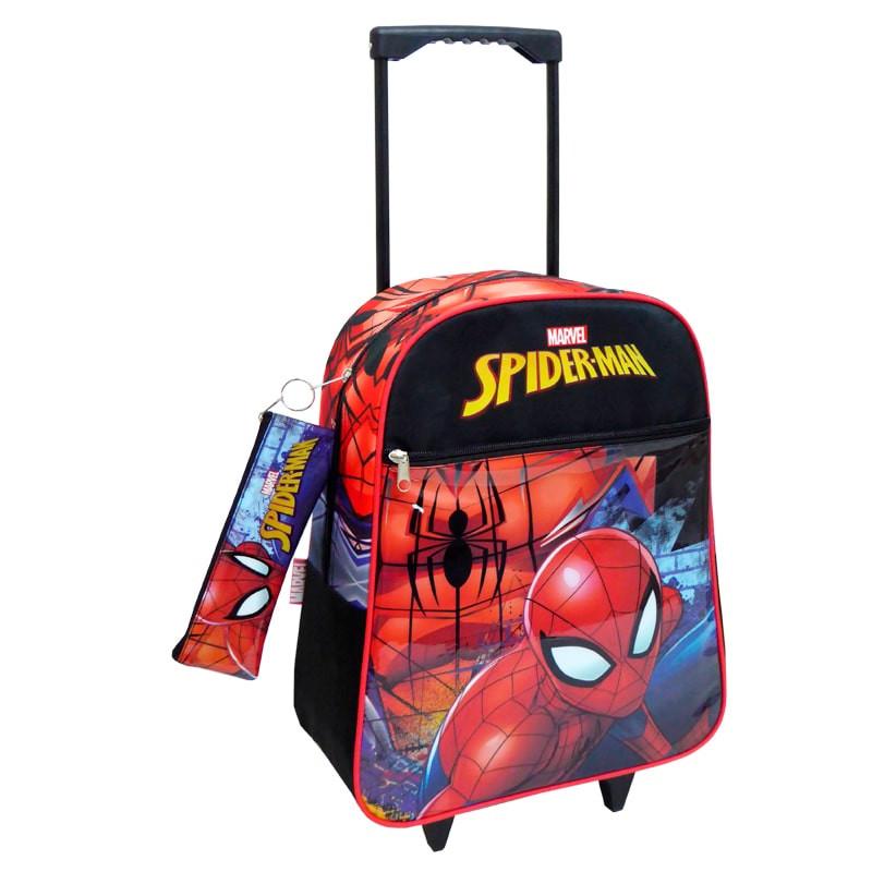 Mochila trolley Spiderman con estuche