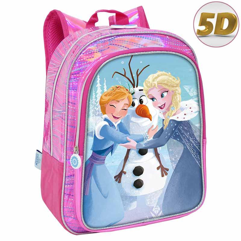 Mochila Frozen con bolsillo 35cm