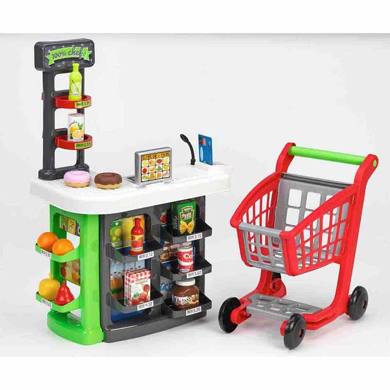 Supermercado con carrito