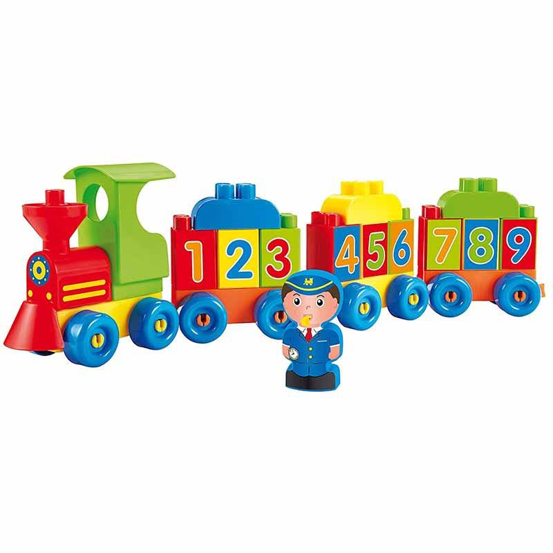 Abrick tren números y letras con figura