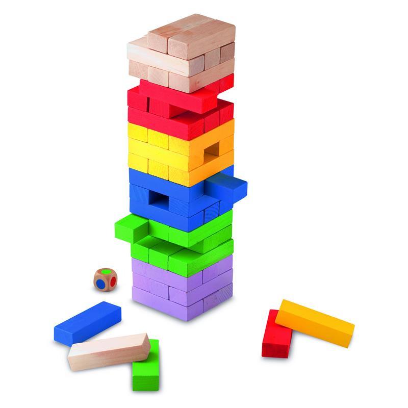 Juego Block a block madera colores