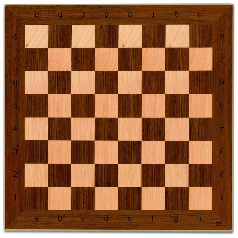 Tablero ajedrez madera 40x40