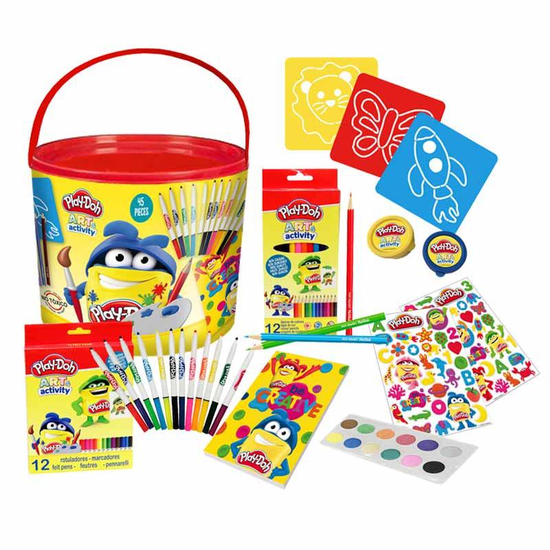 Play Doh set de dibujo 46 piezas en cubo