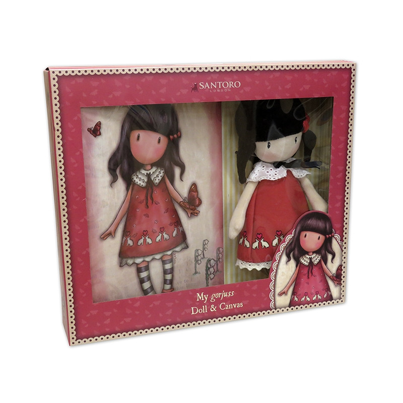 Set de regalo Gorjuss muñeca y canvas Time to fly