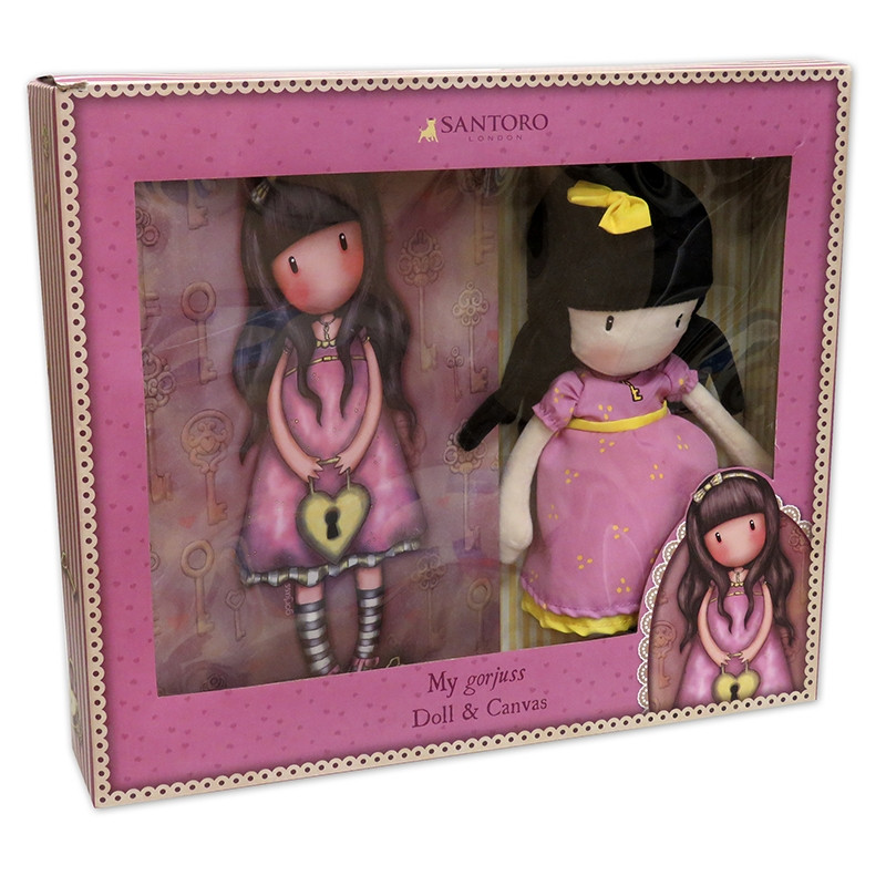 Set de regalo Gorjuss muñeca y canvas The Secret