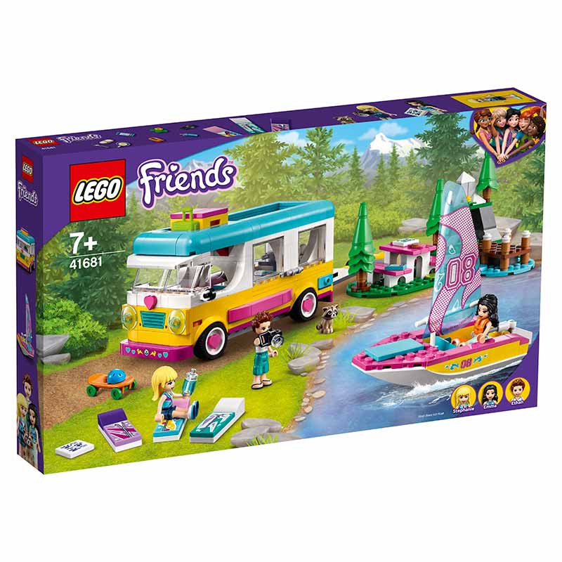 Lego Friends Bosque Autocaravana y Barco de Vela
