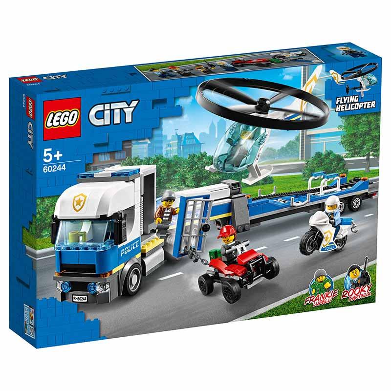 Lego City Policía: Camión Transporte Helicóptero