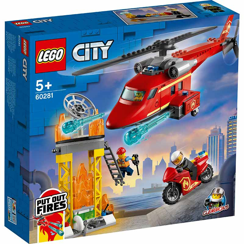 Lego City Helicóptero de Rescate de Bomberos