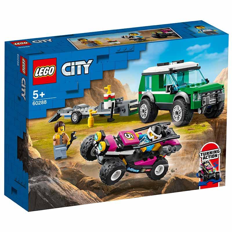 Lego City Furgoneta Transporte del Buggy Carreras