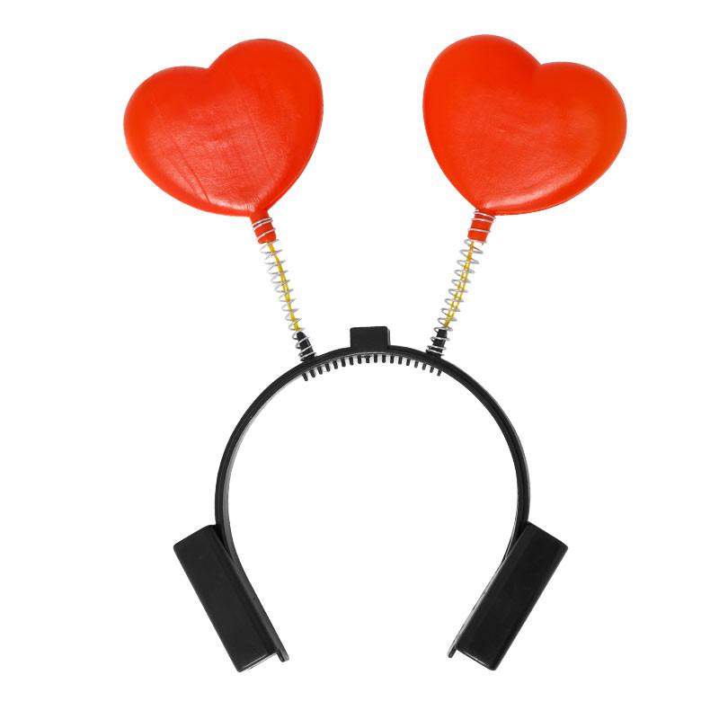 Diadema corazones c/luz