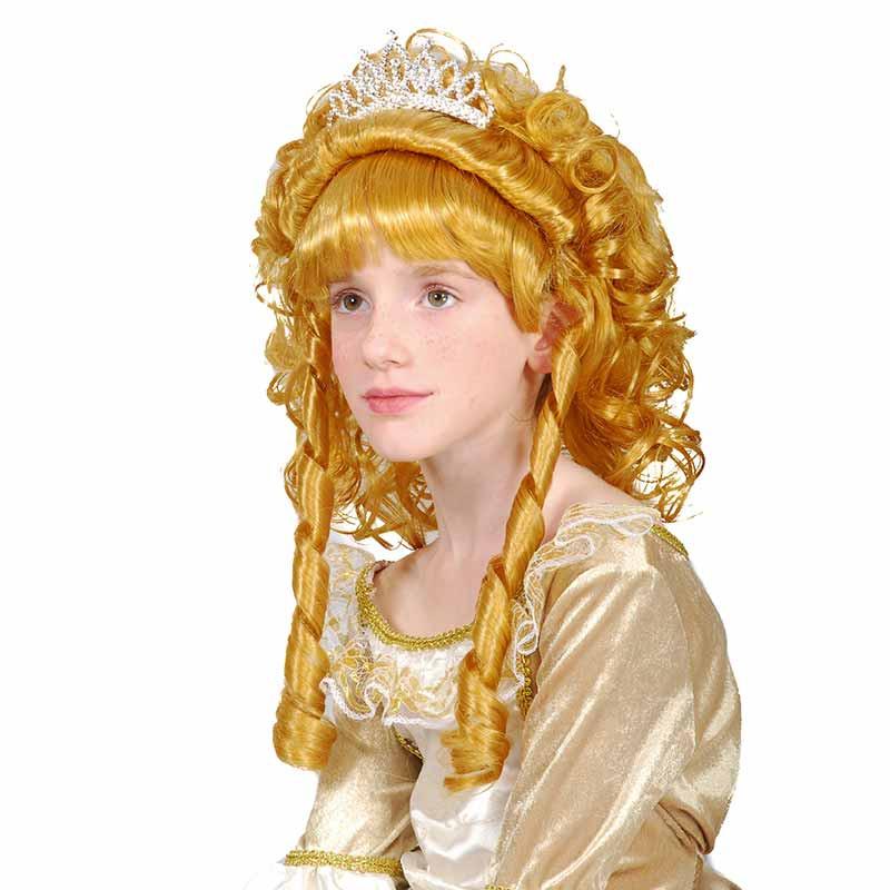 Peluca Princesa Rubia inf Carnaval