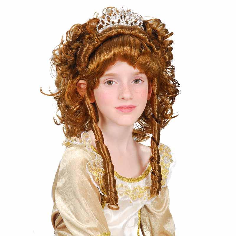 Peluca Princesa Marron inf Carnaval