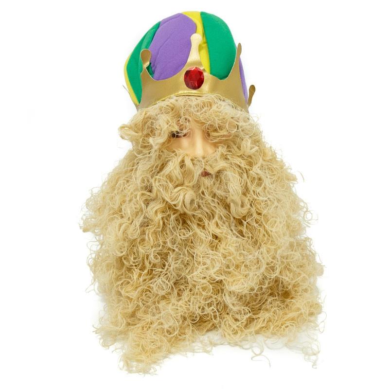 Peluca Rei con Barba Carnaval