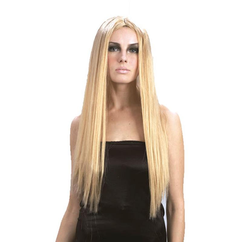 Peluca rubia de pelo largo