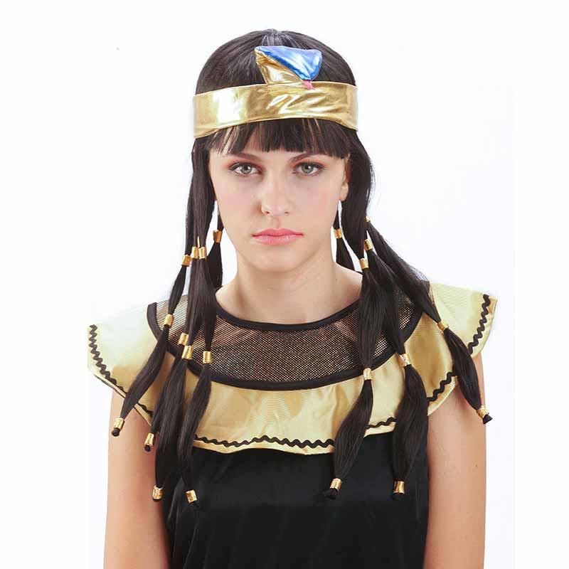 Peluca Cleopatra Adulto Carnaval