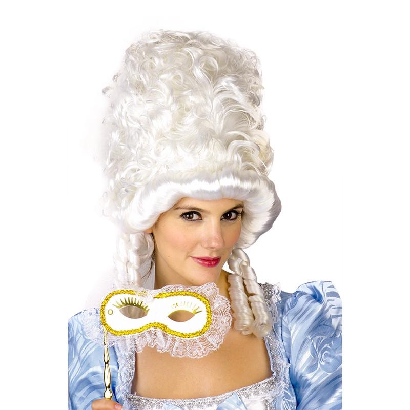 Carnaval peluca princesa blanca