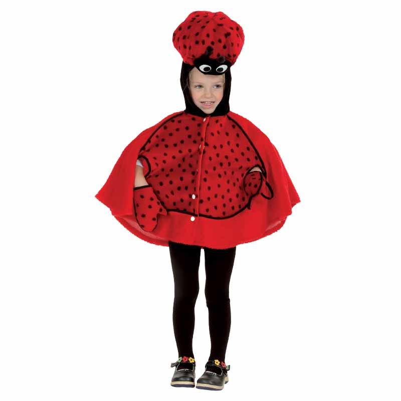 Disfraz Mariquita Capa Peluche Bebe