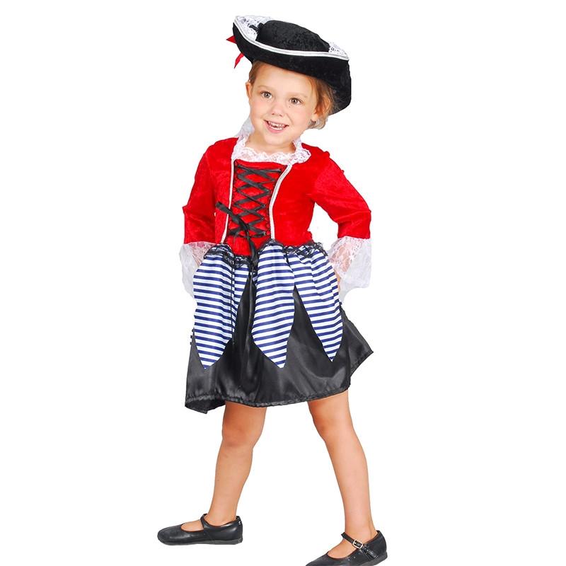Disfraz niña pirata para bebé