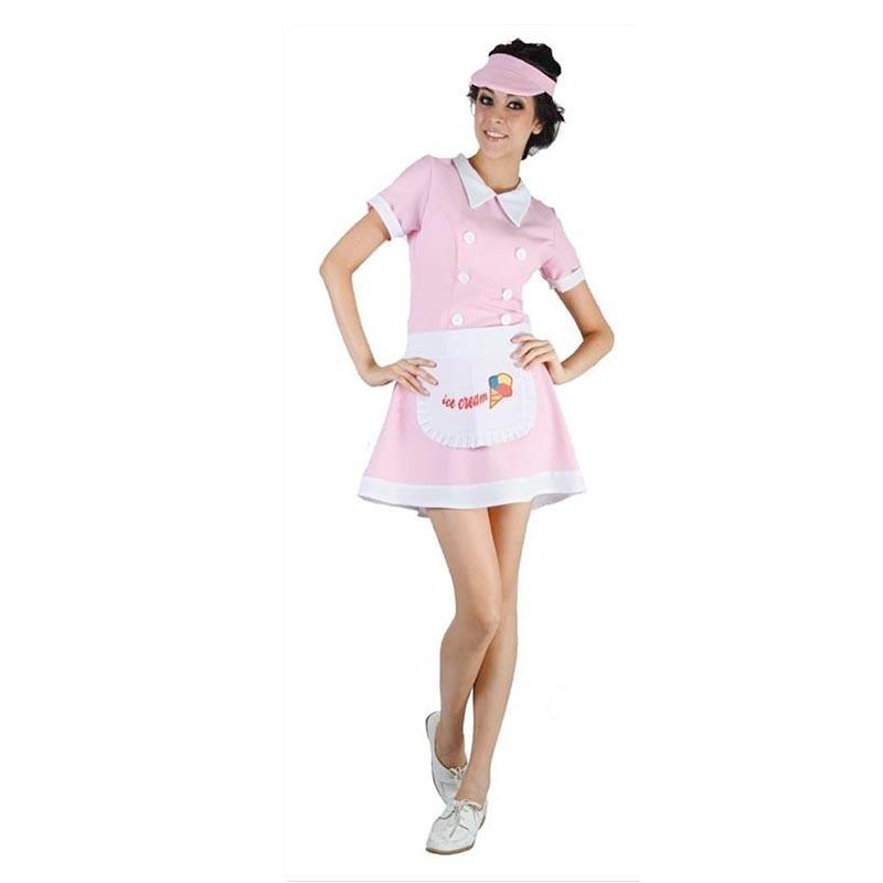 Disfraz vendedora de helados Adulto