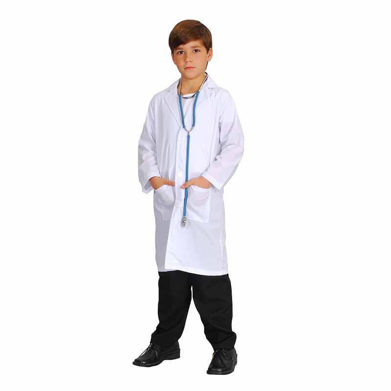 Disfraz bata blanca infantil